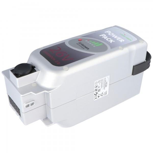E-Bike Batteri til Panasonic Drive 26 Volt 25Ah sæderslange
