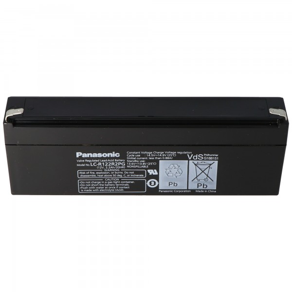 Panasonic LC-R122R2PD Batteri LC-R122R2PG Batteri 12 Volt 2.2Ah