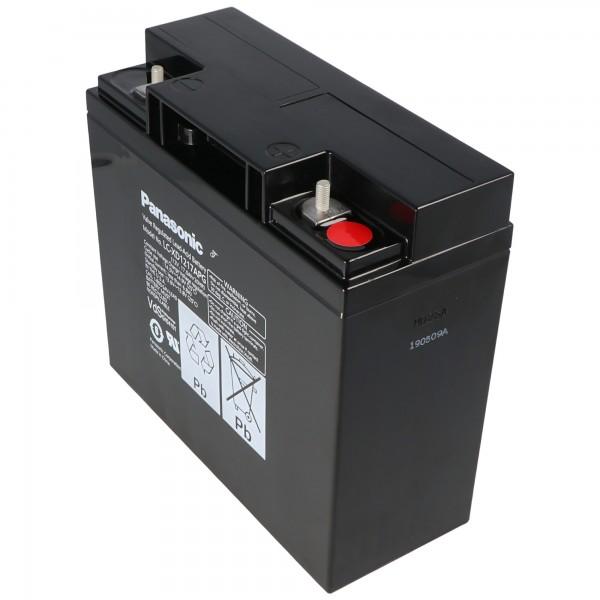 Panasonic LC-XD1217APG blybatteri PB 12 Volt 17000 mAh, M5 skruetilslutning
