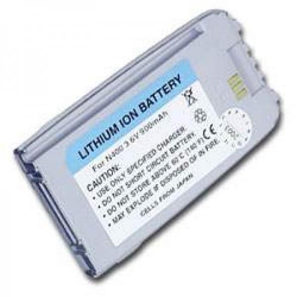 AccuCell batteri passer til Samsung SGH N400, perlemor sølv