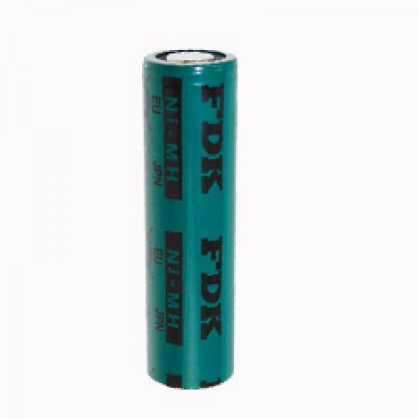 Sanyo FDK Flat Top NiMH batteri 1.2V 1650mAh loddetabel U-FORM