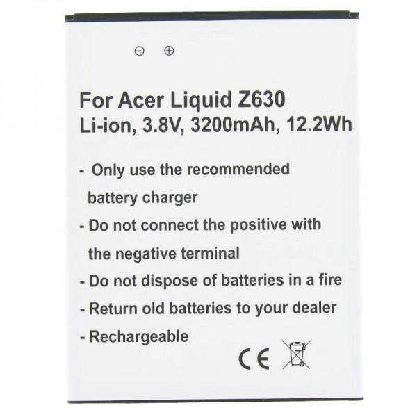Batteri passer til Acer Liquid Z630 Batteri BAT-T11, KT.0010S.018