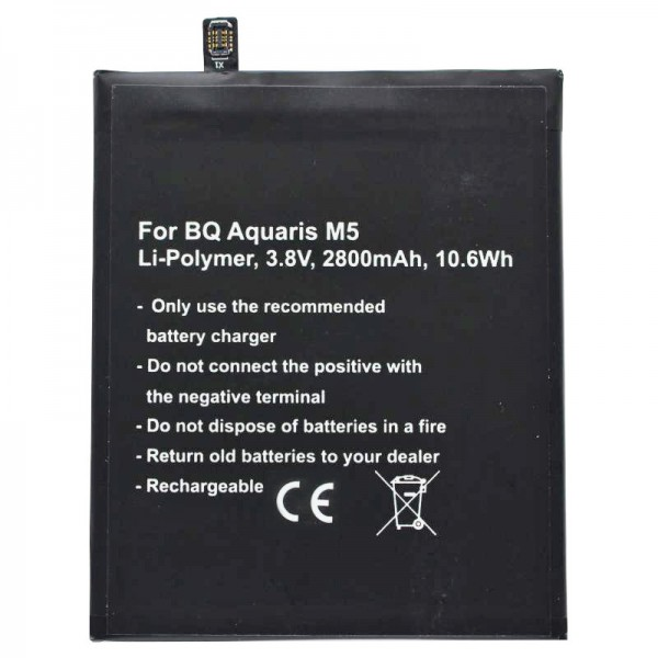 Batteri passer til BQ Aquaris M5 batteri BQ Aquaris 3120