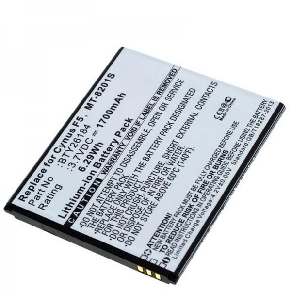 Batteri passer til Mobistel Cynus F5 batteri MT-8201B, MT-8201S, MT-8201W, 1700mAh