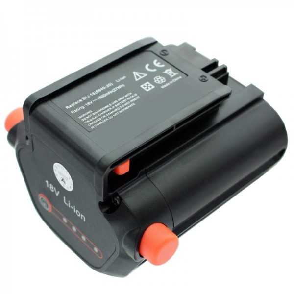 Batteri passer til Gardena Accu Hedge Trimmer EasyCut Li-18/50 Gardena 09840-20 batteri 2500mAh