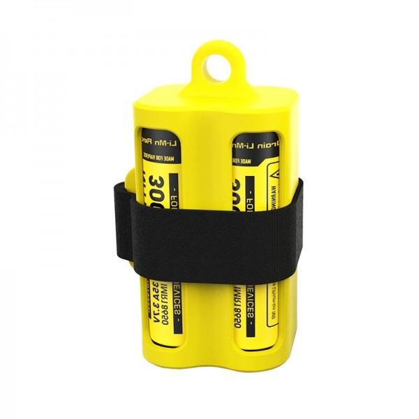 Batterikassette NBM40 Gul til 1-4 Li-ion 18650 batterier eller E-Liquid hætteglas og fordampere