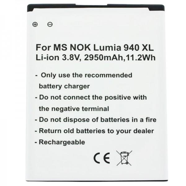 Batteri passer til Microsoft Lumia 950 XL, Lumia 950 XL dobbelt SIM-batteri BV-T4D