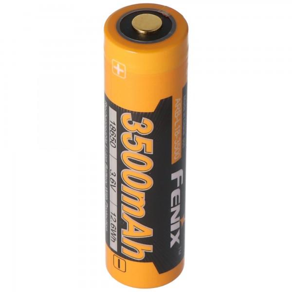Panasonic 18650 Li-ion batteri med 3500mAh og 3x beskyttelse kredsløb, 68.66x18.4mm