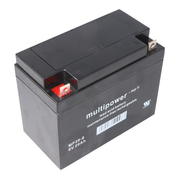 Multipower MP20-6 Batteri PB Leder, 6 Volt med 20Ah, 2000mAh