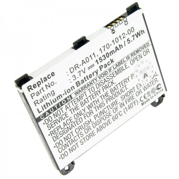 Batteri passer til Amazon Kindle 2, Kindle DX, batteri 170-1012-00 DR-A011
