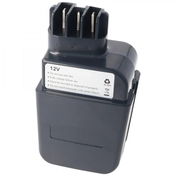 AccuCell batteri passer til Metabo 6.30071.00 pen NiMH genopladeligt 3.0Ah