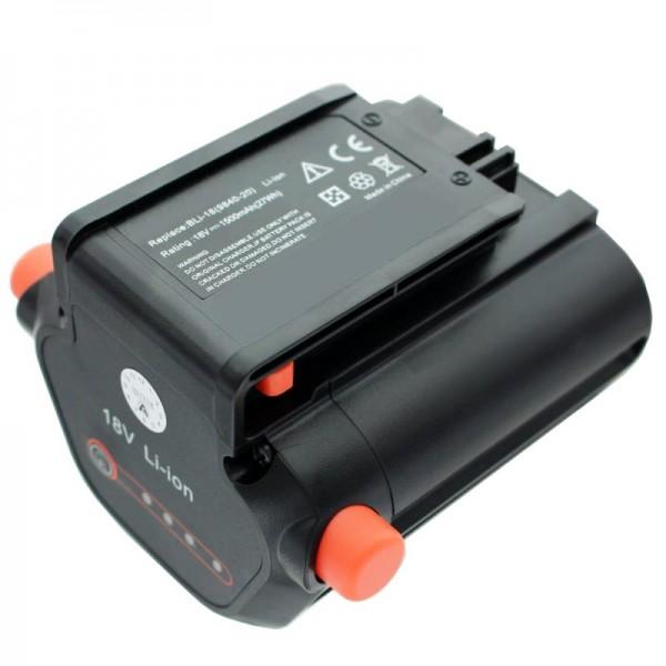 Batteri passer til Gardena Accu Hedge Trimmer EasyCut Li-18/50 Gardena 09840-20 batteri 1500mAh
