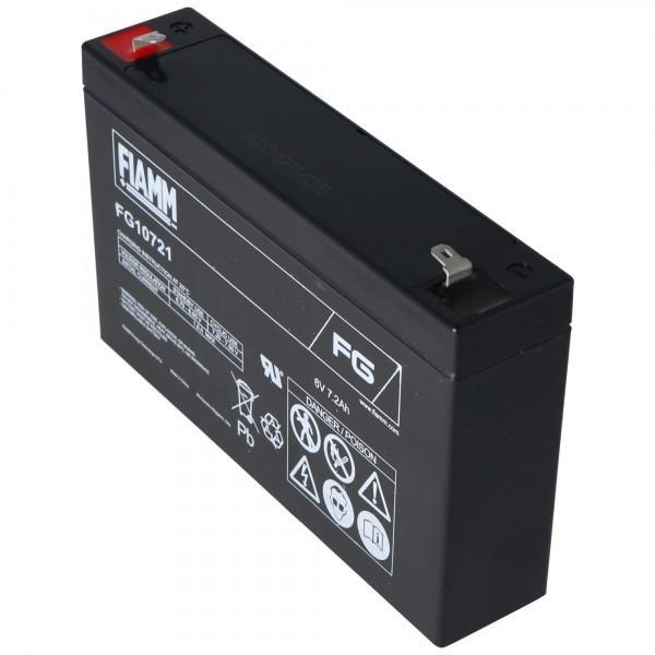 Fiamm FG10721 blybatteri 6 volt 7.2Ah