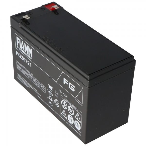Fiamm FG20721 Batteri 12 Volt, 7.2Ah med 4,8 mm stik kontakter