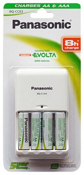 Panasonic oplader BQ-CC03 Timer Quattro inkl. 4 x P6E 2050mAh