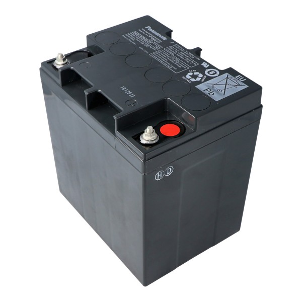 Panasonic LC-X1228AP Batteri 12 Volt 28Ah M5 Kontakt X1228