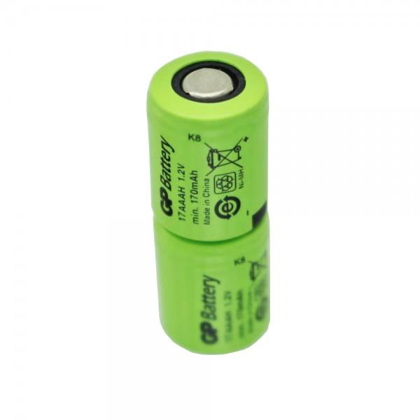 GP KAN 1 / 3AAA Mikrobatteri 2,4 Volt 170mAh Ni-MH Batteri ca. 28x11mm