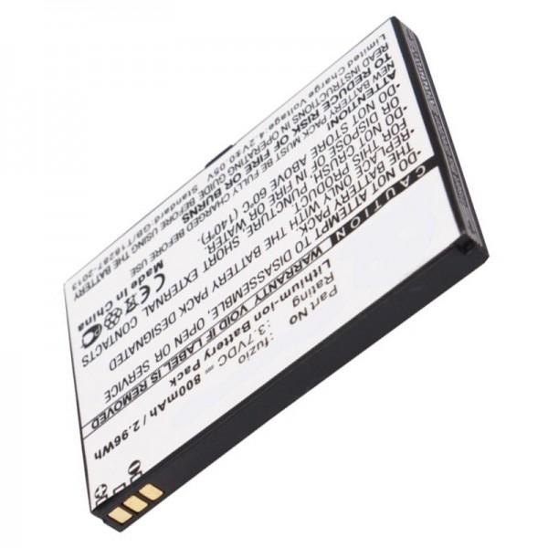 AccuCell batteri passer til WiKo Fuzio batteri med 800mAh