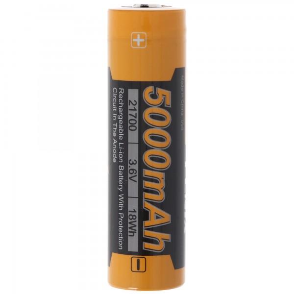 21700 Fenix ARB-L21-5000 Li-ion batteri størrelse 21700er, 76x21,5mm i dimensionen