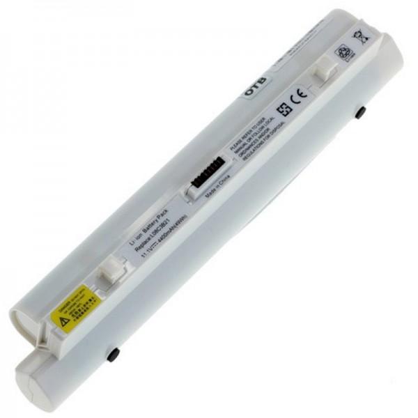 Batteri passer til Lenovo IdeaPad S9 og IdeaPad S10 4400mAh hvid