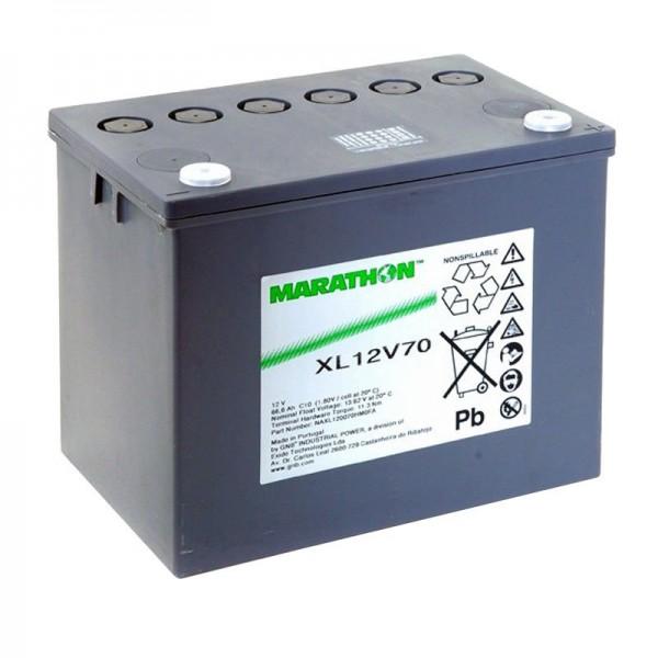 XL12V70 Exide Marathon Batteri 12 Volt 66600mAh M6 Skrueterminal