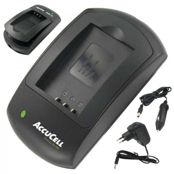 AccuCell hurtig oplader egnet til Rollei XS-10 touch-batteri