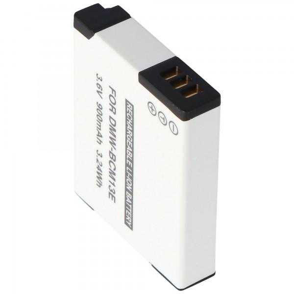 DMW-BCM13 AccuCell kvalitets batteri passer til Panasonic DMW-BCM13E genopladeligt batteri 3.7V, maks. 4,2 volt