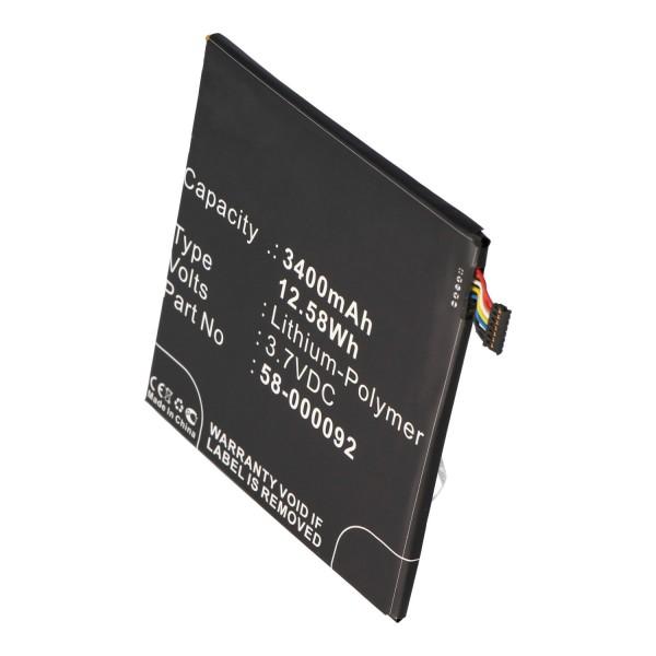 Batteri passer til Amazon Kindle Fire HD 6, ST06, 26S1006, 58-000092 3.7 Volt 3400mAh
