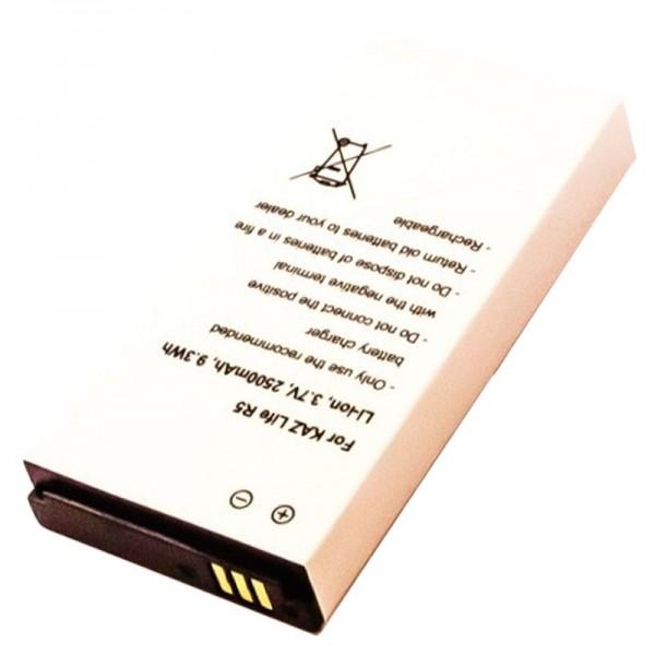 Batteri passer til Kazam Life R5, KAR5 3.7 Volt 2500mAh