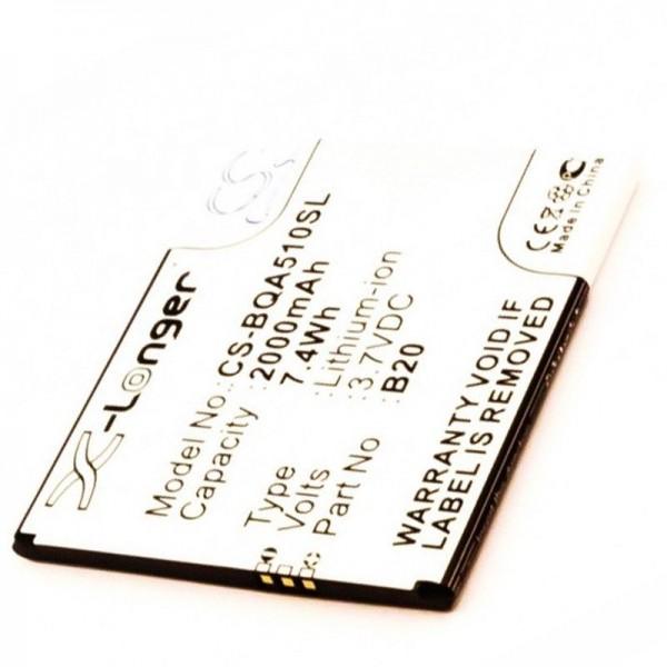 Batteri passer til BQ Aquaris 5.0 HD batteri Aquaris B20