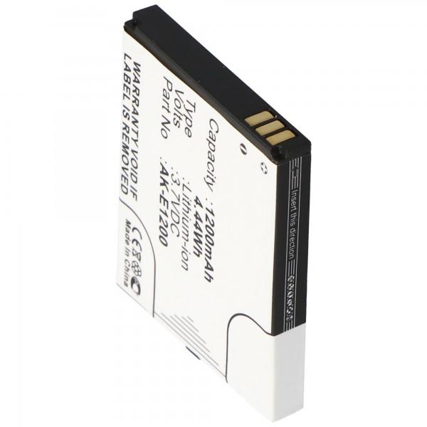 AccuCell batteri passer til Emporia TELME E1000, E1200, C121, AK-E