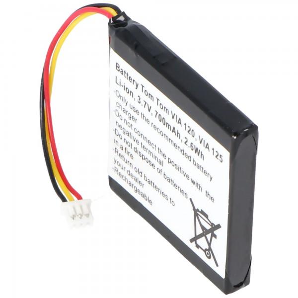 Batteri passer til TomTom 4EH51, VIA 120, VIA 150, VIA Live