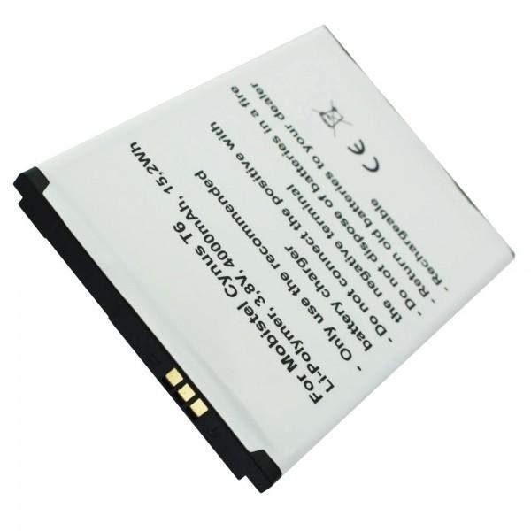 MOBISTEL Cynus T6 batteri som replik af Accucell egnet til BTY26187