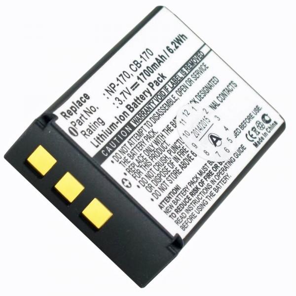 AccuCell batteri passer til Aiptek CB-170, NP-170, 084-07042L-062
