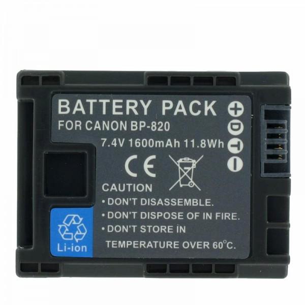 Canon BP-820 udskiftningsbatteri til Canon Vixia HF G30, XA20, XA25 (ingen originalt Canon batteri)
