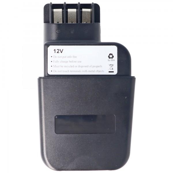 Batteri passer til Metabo 6.30071, 6.31723, 12V, 2.0Ah NiMH