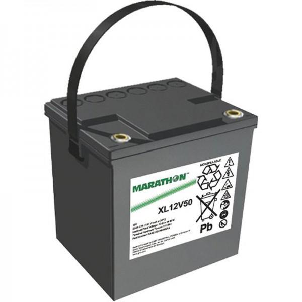 Exide Marathon XL12V50 Batteri PB Lednings vedligeholdelsesfri 12 Volt, 50Ah