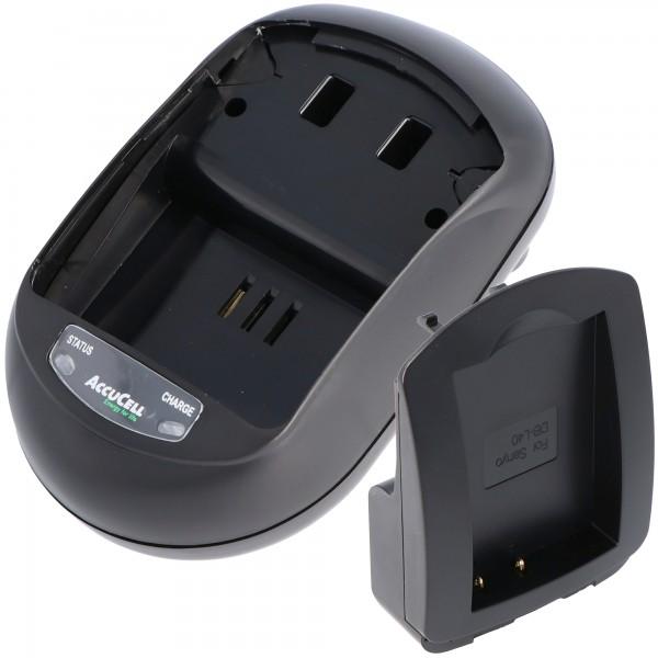 AccuCell oplader egnet til Sanyo DB-L40 batteri, Xacti DMX-HD1