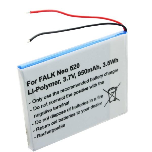 Batteri passer til Falk Neo 520, Neo 520LMU batteri SR404255