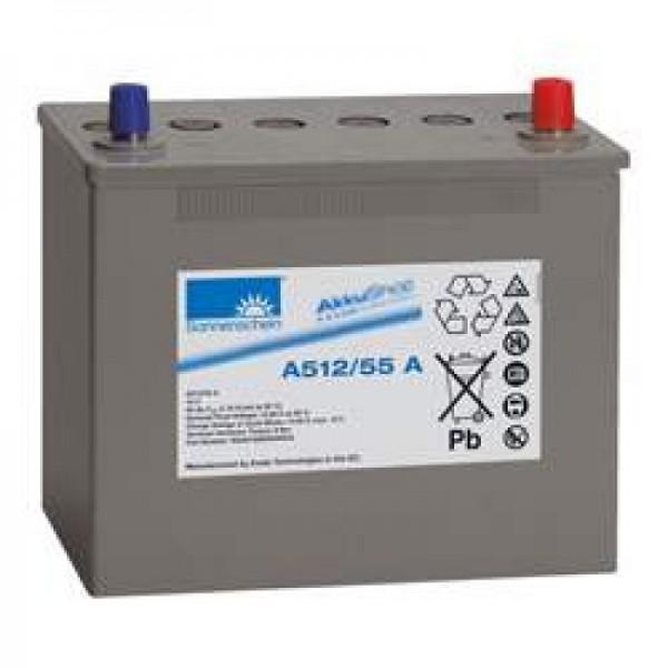 Sunshine Dryfit A512 / 55A blybatteri, A-terminal