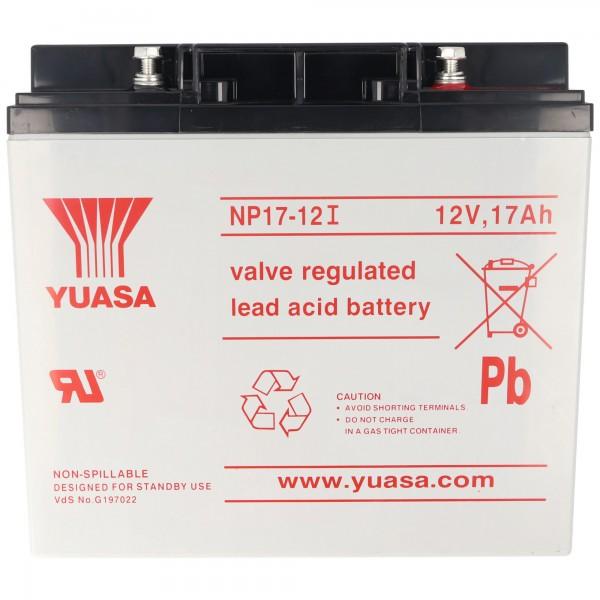 Yuasa NP17-12I med M5 skruetilslutning