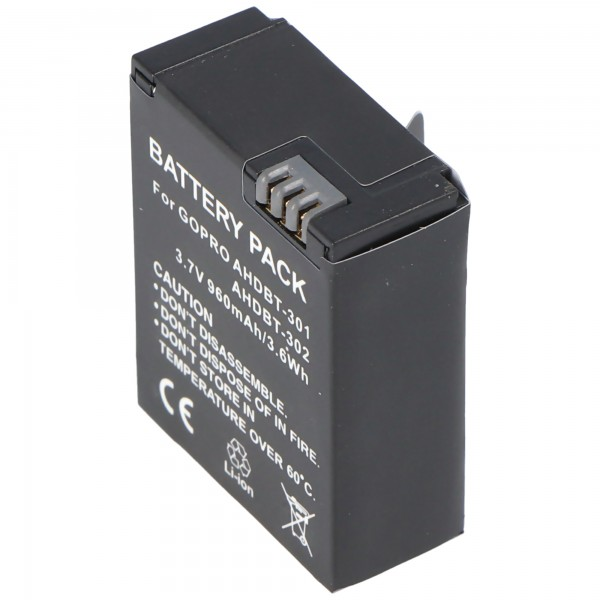 AccuCell batteri passer til Go Pro HD Hero 3, AHDBT-201, AHDBT-301