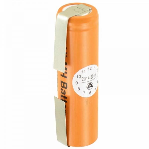 Panasonic Batteri HHR-150AAF9 Ni-MH 1.2Volt 1500mAh med loddetråd U-form