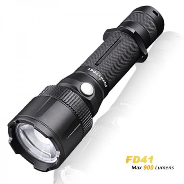 Fenix FD41 Cree XP-L HI LED LED lommelygte 360 graders fokusable inklusive 2600mAh Li-ion batteri USB