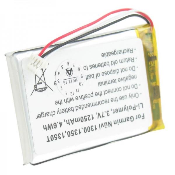 Batteri passer til Garmin Nuvi 1300, 1350, 1350T, 1370, 1370T