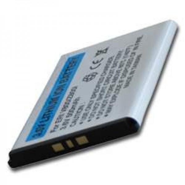AccuCell batteri passer til Sony Ericsson W960i, 500mAh