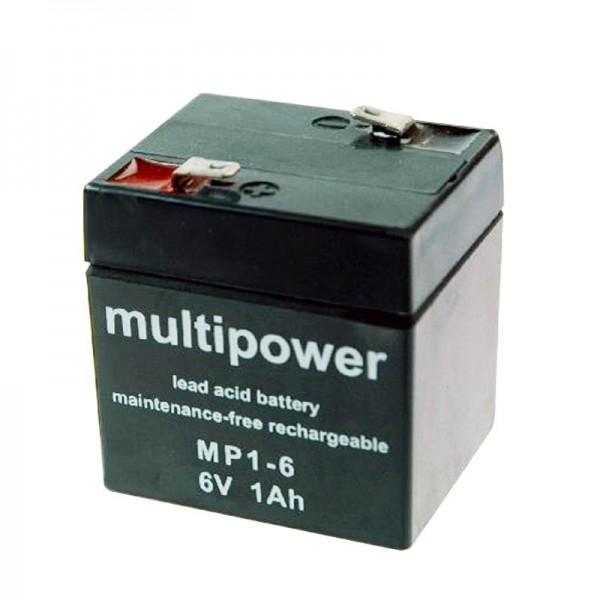 Solskin batteri Dryfit A206 / 1.0S, bly, tilslutning 4,8mm (ikke længere tilgængelig, alternative varer)