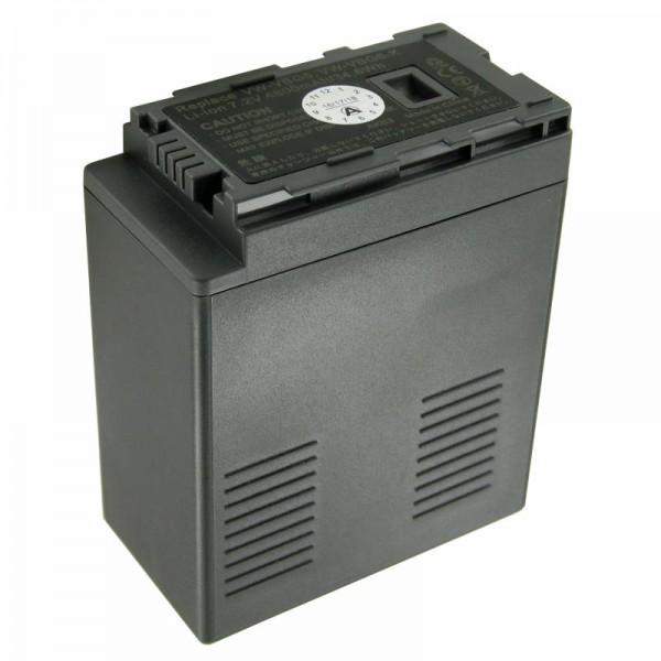 Batteri passer til Panasonic VW-VBG6 batteri (ikke originalt batteri)
