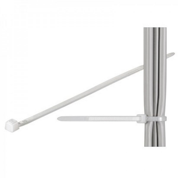 Kabel slips standard, gennemsigtig længde 280mm, bredde 4.8mm
