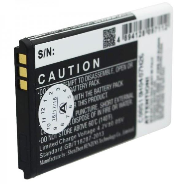 Batteri passer til Kazam Life B2, Kazam Life C5, KAC5-HELBE0003594